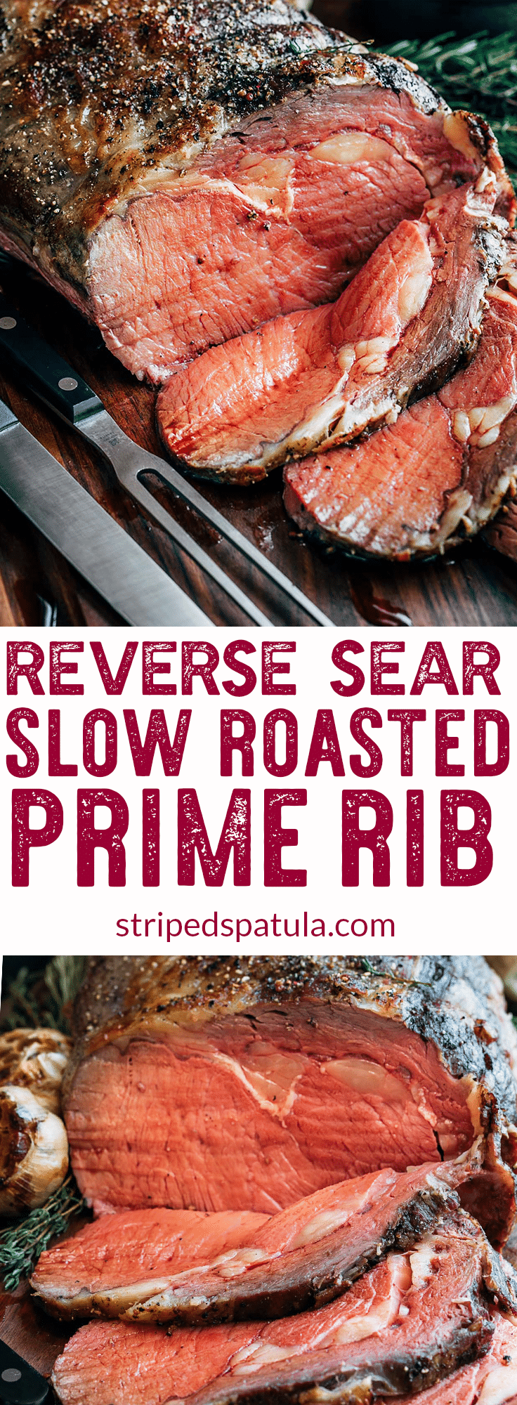 Slow Roasted Prime Rib Recipe | Prime Rib Roast Recipe | Prime Rib How to Cook | Standing Rib Roast Recipe | Standing Rib Roast Christmas | Reverse Sear Prime Rib Roast | Christmas Dinner Ideas | Christmas Dinner Recipes | #primeribrecipe #primeribroast #primeribbeef #primerib #stripedspatula #christmasdinner #christmasdinnerparty