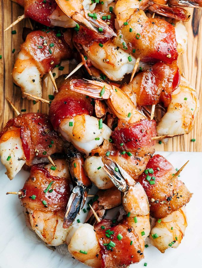 Bacon-Wrapped Shrimp with Bourbon Glaze