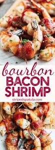 Bourbon-Glazed Bacon-Wrapped Shrimp