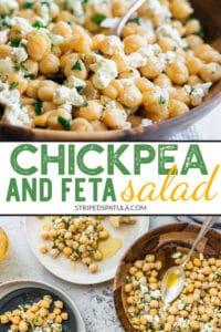 how to make chickpea salad with feta and lemon vinaigrette