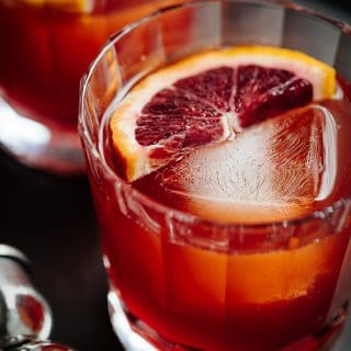 blood orange boulevardier cocktail