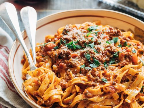 bolognese sauce recipe instant pot or pressure cooker striped