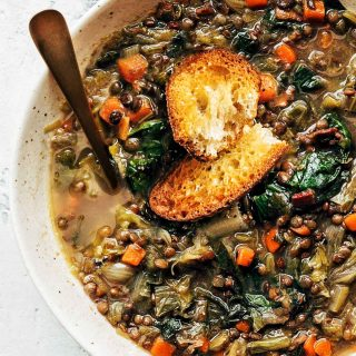 French Lentil Soup with Escarole