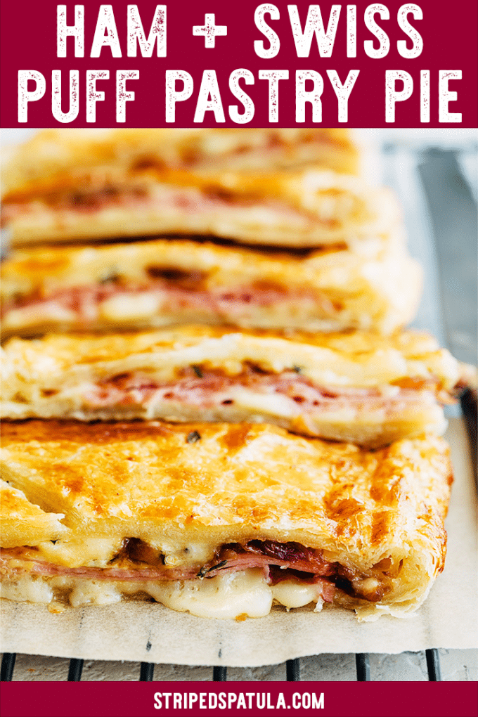 ham and swiss puff pastry slab pie recipe