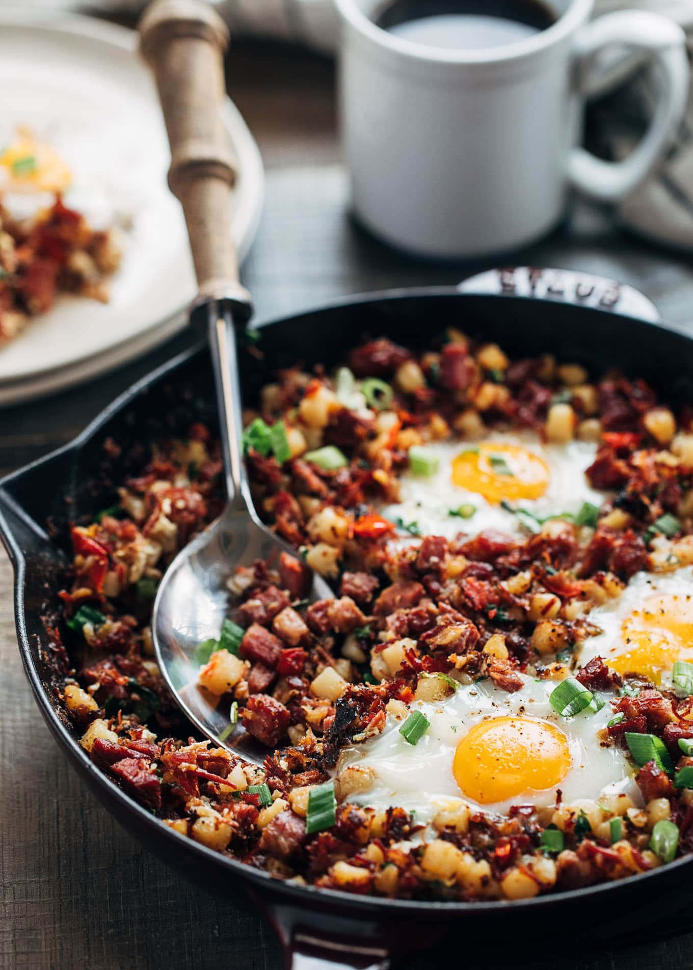 Corned Beef Hash And Eggs Striped Spatula