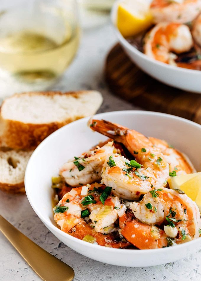 Easy Shrimp Scampi With White Wine And Lemon Striped Spatula