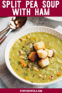how to make split pea soup with hambone