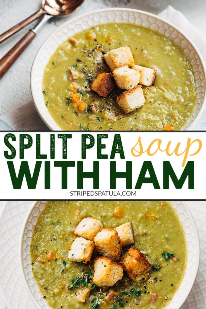 how to make split pea soup with ham bone