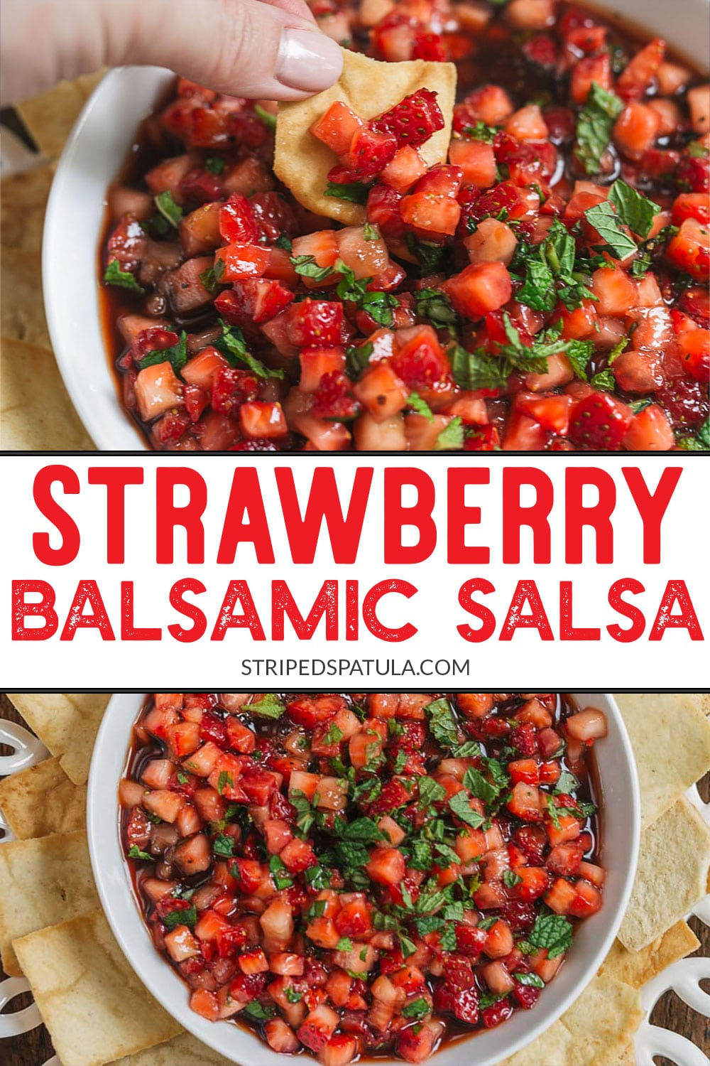 how to make strawberry salsa with balsamic and herbs