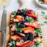 Flatbread Pizza (Grilled) with Berries, Arugula, and Fontina