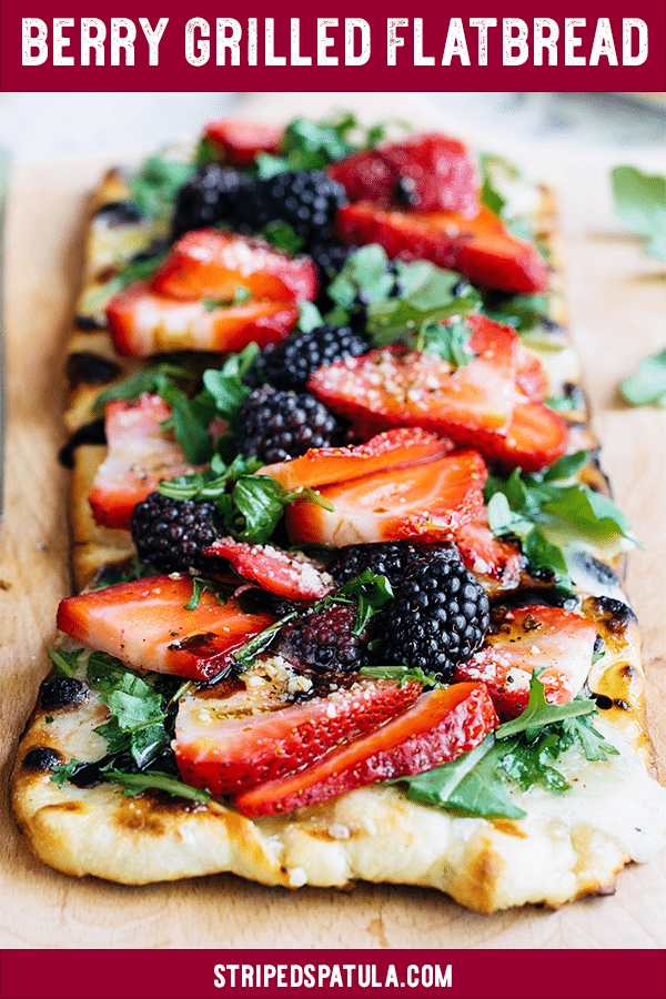 how to make grilled flatbread pizza with berries