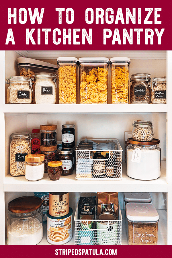 organize kitchen pantry DIY guide