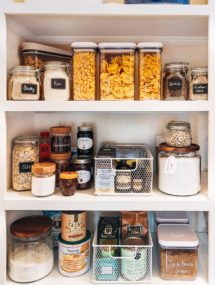 how to organize a pantry: kitchen organization tips