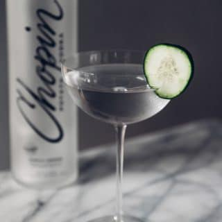 Chopin with cucumber garish