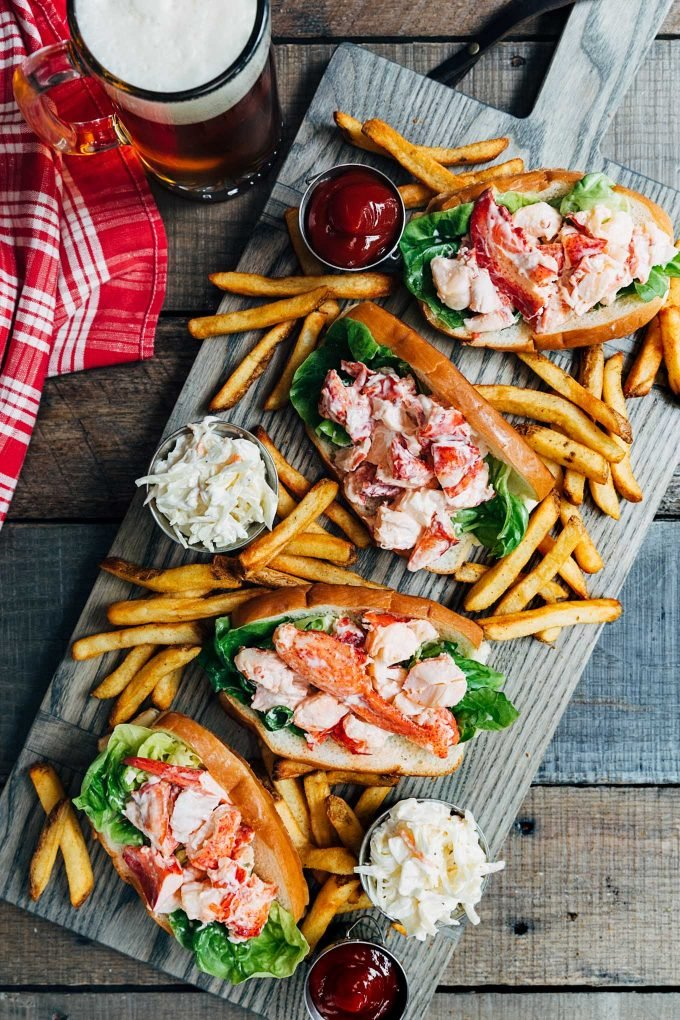 Maine Lobster Rolls (Lobster Salad Rolls) | Striped Spatula