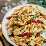 sun-dried tomato pasta salad with artichoke hearts