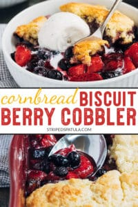 how to make berry cobbler with cornbread biscuit topping