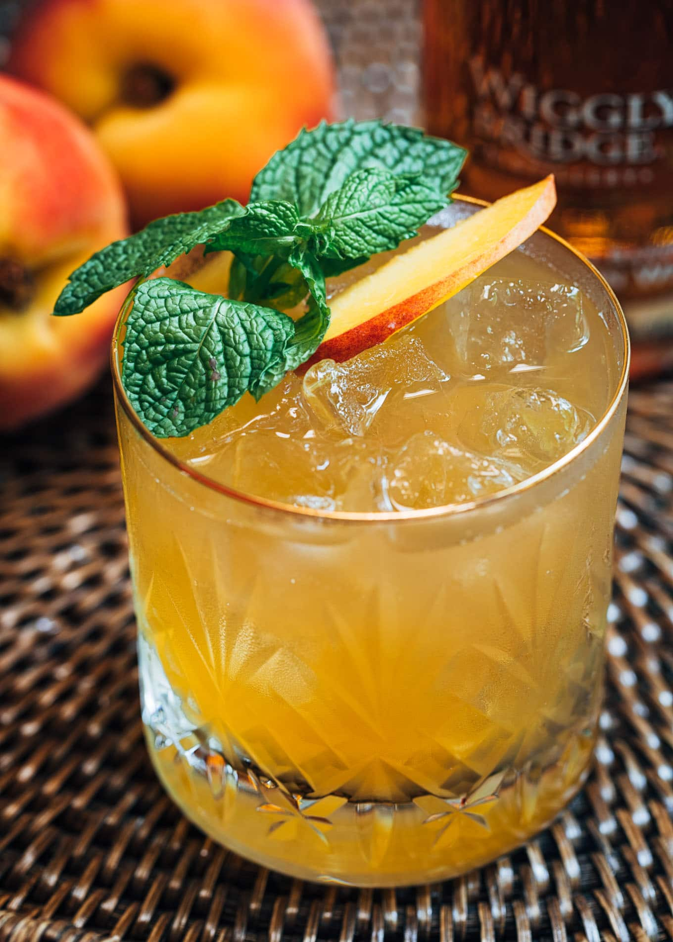 Bourbon Peach Smash | Striped Spatula