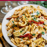 pasta salad recipe with sun-dried tomatoes and artichokes