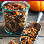 pumpkin granola recipe with maple syrup and pecans
