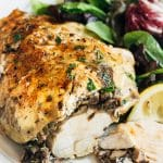 stuffed chicken breasts with mushrooms and goat cheese