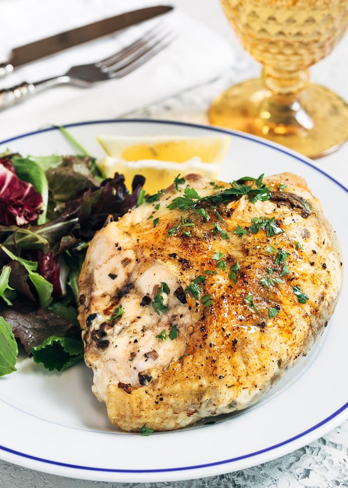 baked stuffed chicken breast with mushrooms and goat cheese