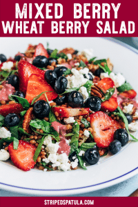 how to make mixed berry wheat berry salad