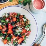 wheat berry salad with mixed berry vinaigrette