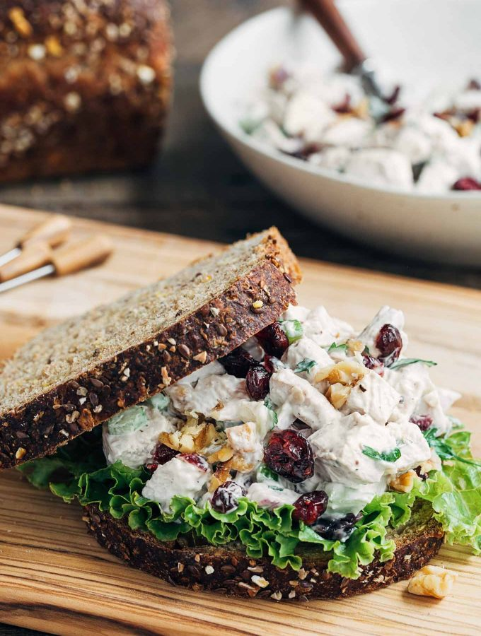 Cranberry Chicken Salad with Walnuts