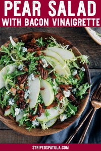 how to make pear salad with bacon vinaigrette