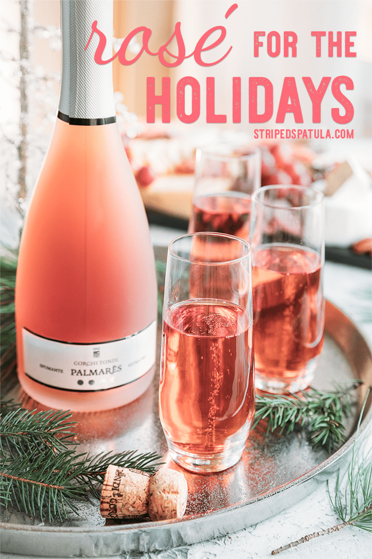 Rose wine isn't just for summer! Certified Sommelier, Hugh Preece, gives us 4 fantastic reasons to entertain with rose for the winter holidays. #rosewine #winebottle #holidayparty #drinks