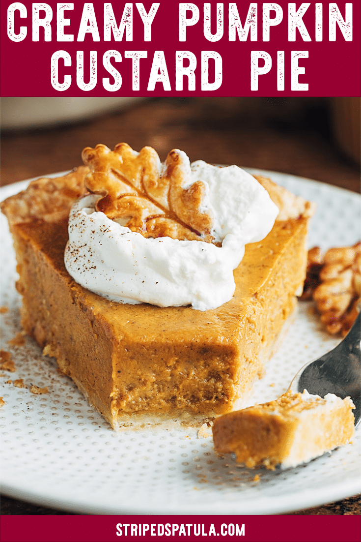 Learn how to make the best Pumpkin Custard Pie from scratch with my family's favorite recipe! Making pumpkin pie at home for Thanksgiving is easy with a few tips and tricks. #pumpkin #pumpkinpie #pumpkinrecipes #thanksgivingrecipes