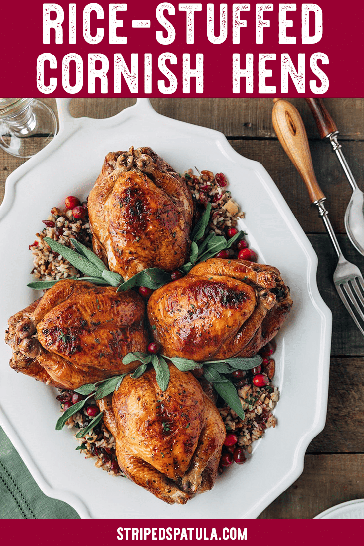how to make roasted cornish hens with wild rice stuffing
