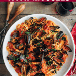 how to make easy pasta with mussels {sponsored}