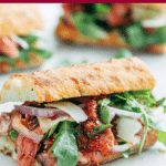 how to make roast beef sandwiches with pesto rosso