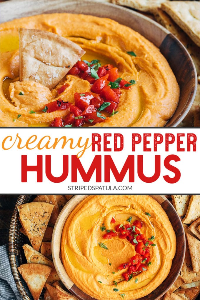 how to make homemade red pepper hummus