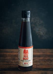bottle of red boat fish sauce