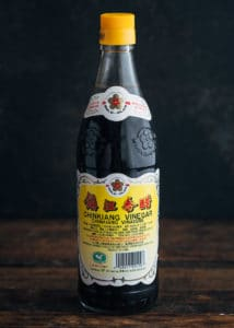 bottle of Chinkiang vinegar (Chinese black vinegar)