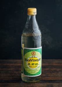 bottle of rice vinegar