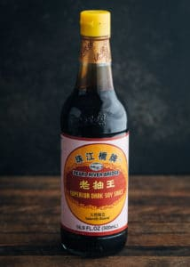 bottle of pearl river bridge chinese dark soy sauce