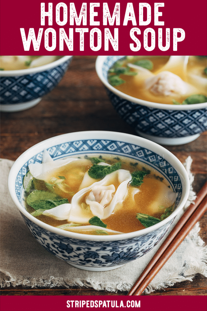 how to make homemade wonton soup