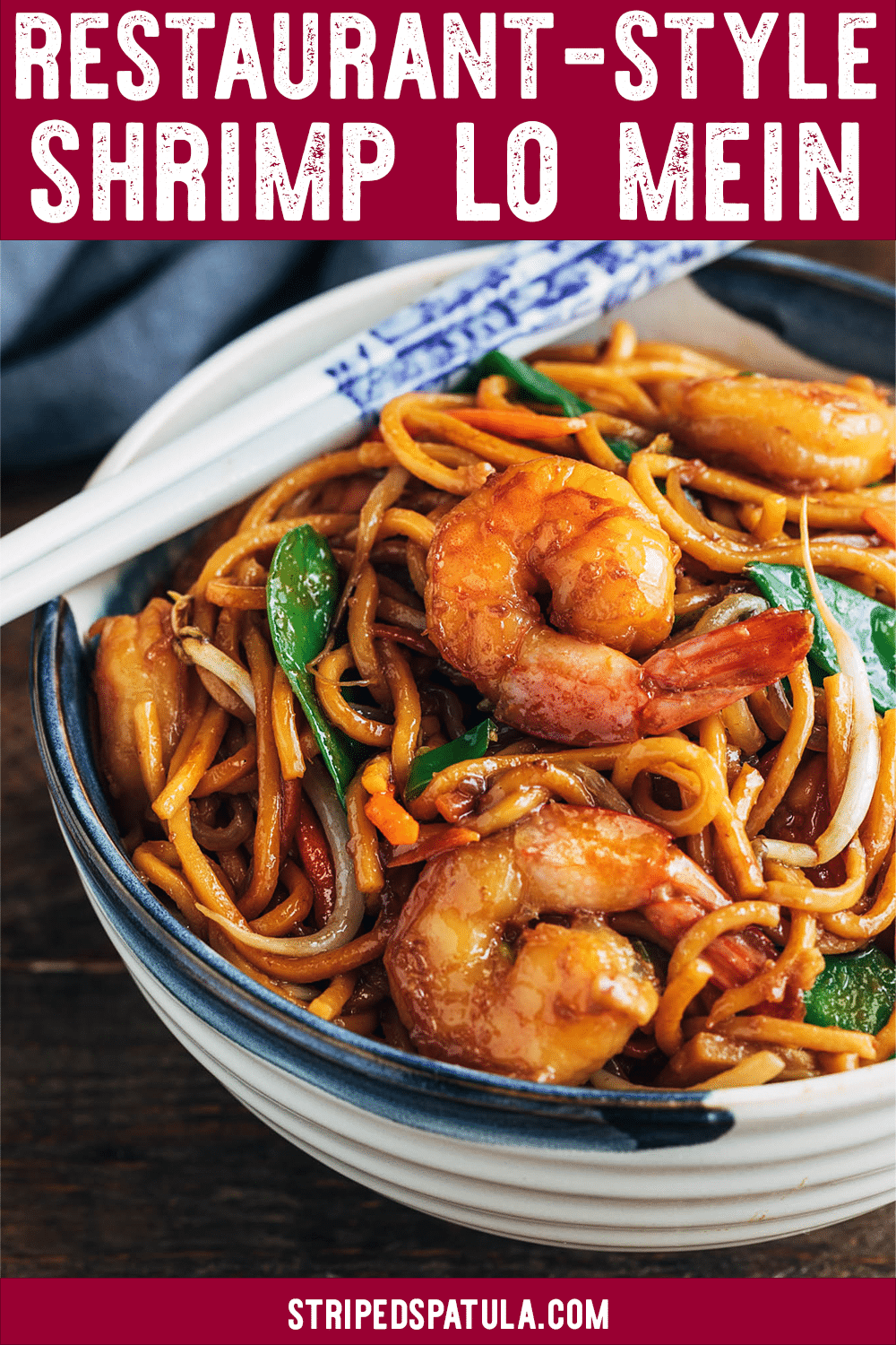 Takeout Fakeout! See how easy it is to make restaurant-quality Shrimp Lo Mein at home in just 30 minutes, prep to finish. Weeknight dinner made easy. #chinesefood #takeoutfakeout #dinnerrecipes