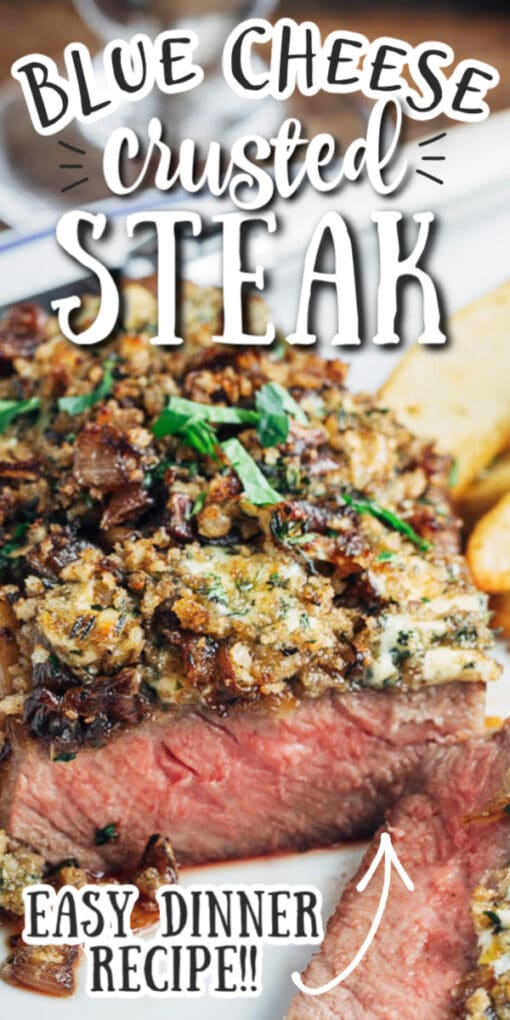 blue cheese crusted steak pin