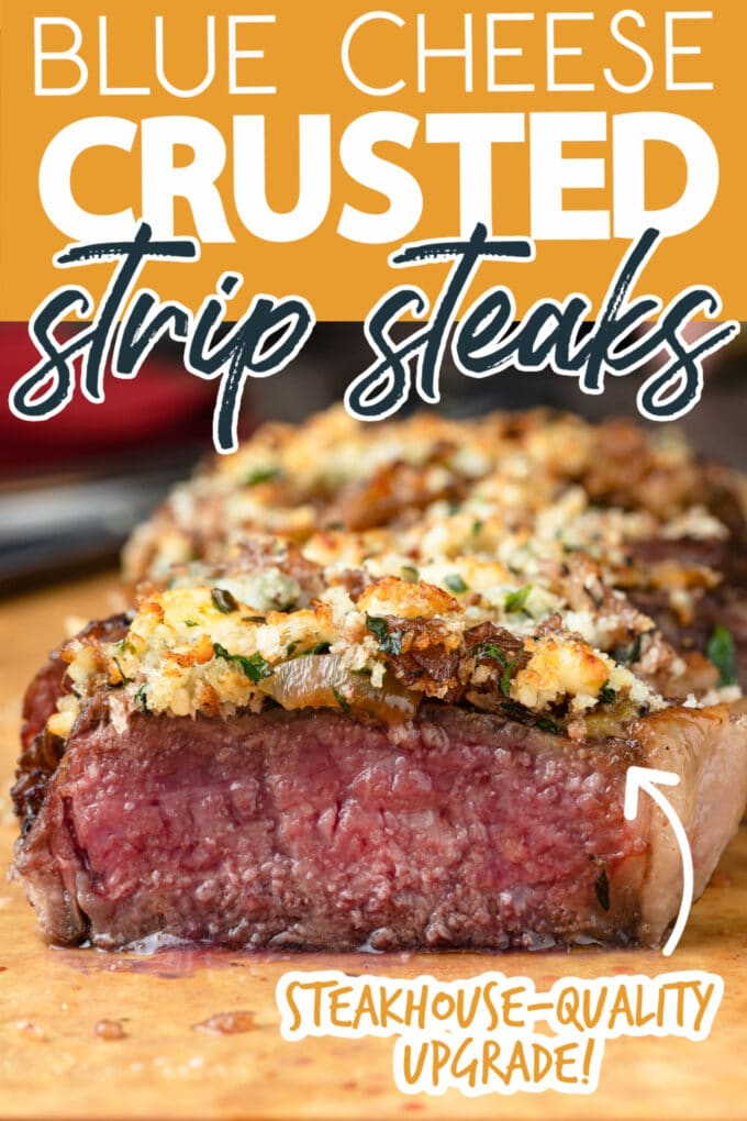 blue cheese crusted strip steak recipe