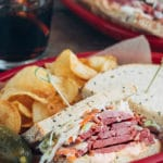 corned beef sandwich with coleslaw and russian dressing