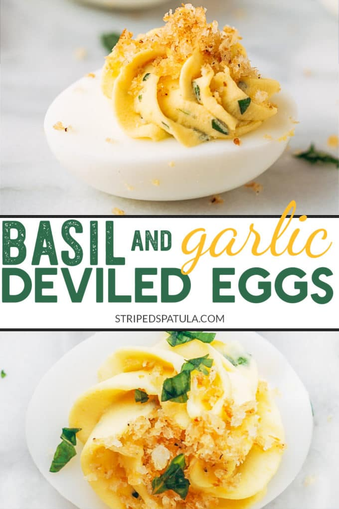 how to make italian deviled eggs with basil and garlic