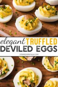how to make truffled deviled eggs