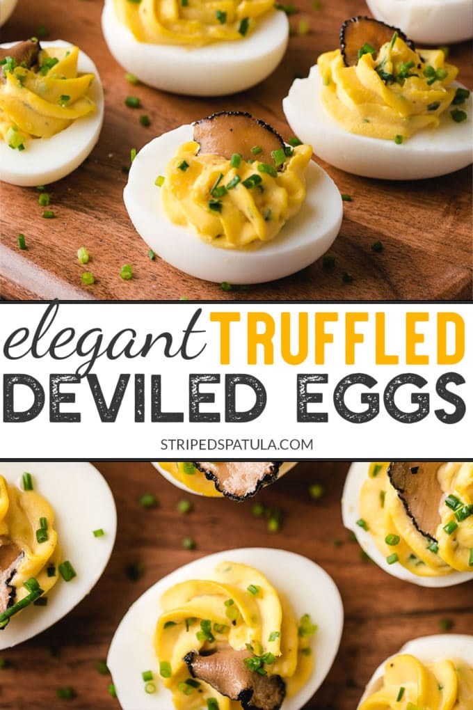 how to make truffled deviled eggs