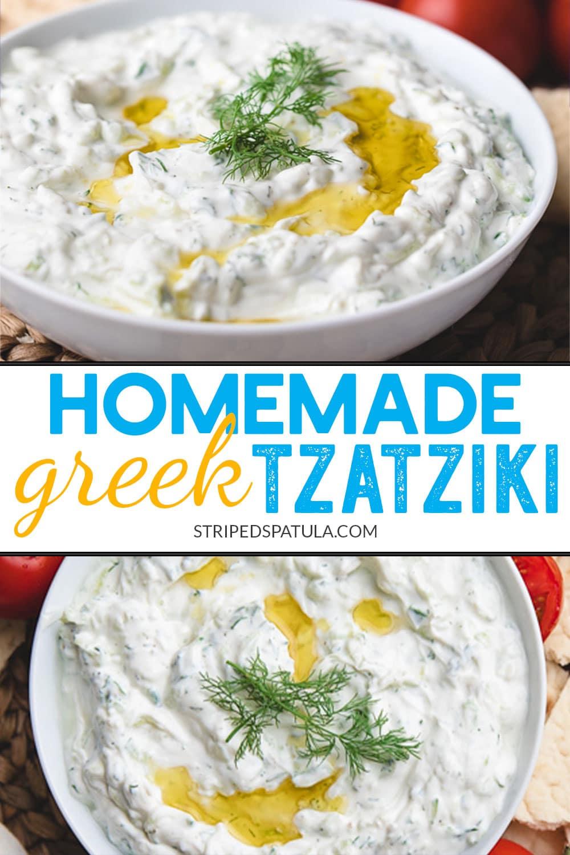 how to make homemade Greek-style tzatziki