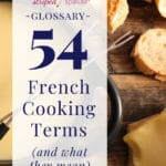54 french cooking terms defined